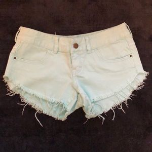 Mint Billabong shorts
